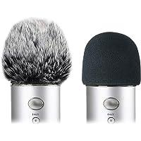 Schuimmicrofoon voorruit met harige voorruit Muff - Mic Wind Cover Pop Filter voor Blauw Yeti, Blauw Yeti Pro USB…