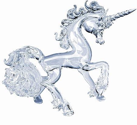 Prochaska Gallery Hand Blown Glass Unicorn Prancing Crystal Figurine