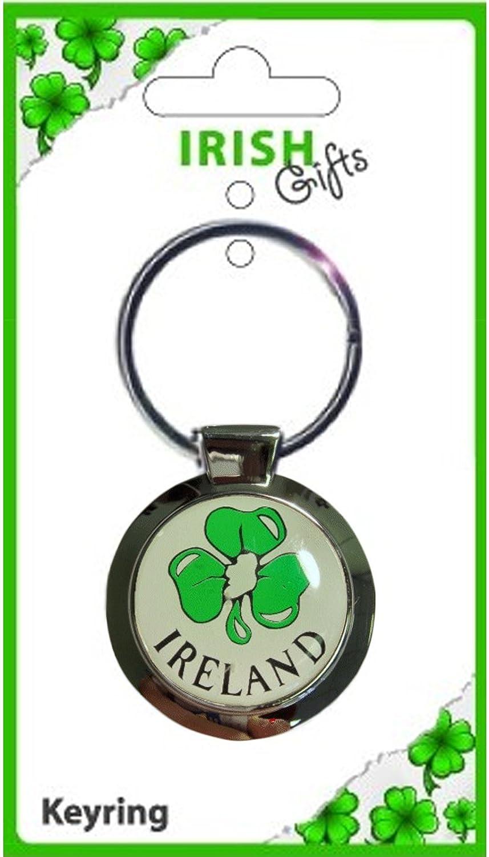 人気 Ireland Green Shamrock Irish Round Irish Metal Round Keyring Green B00831UPA8, ギャラリーモダーン:c0ba37a9 --- yelica.com