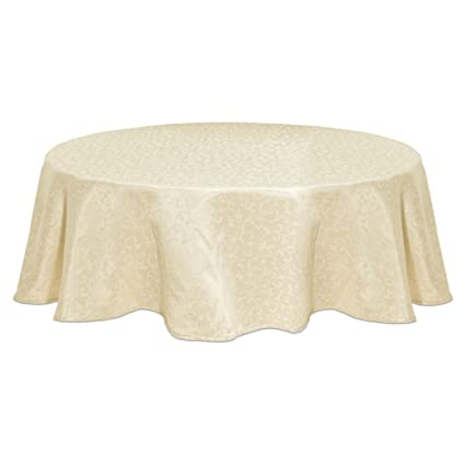 Good Lenox Opal Innocence 90u0026quot; Round Tablecloth, Ivory