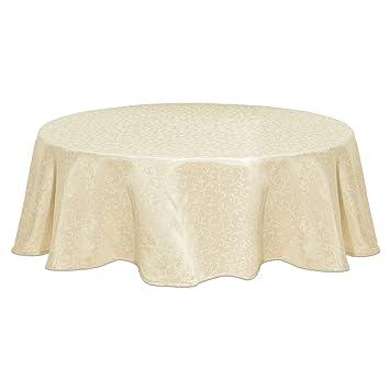 Amazoncom Lenox Opal Innocence 90Inch Round Tablecloth Ivory