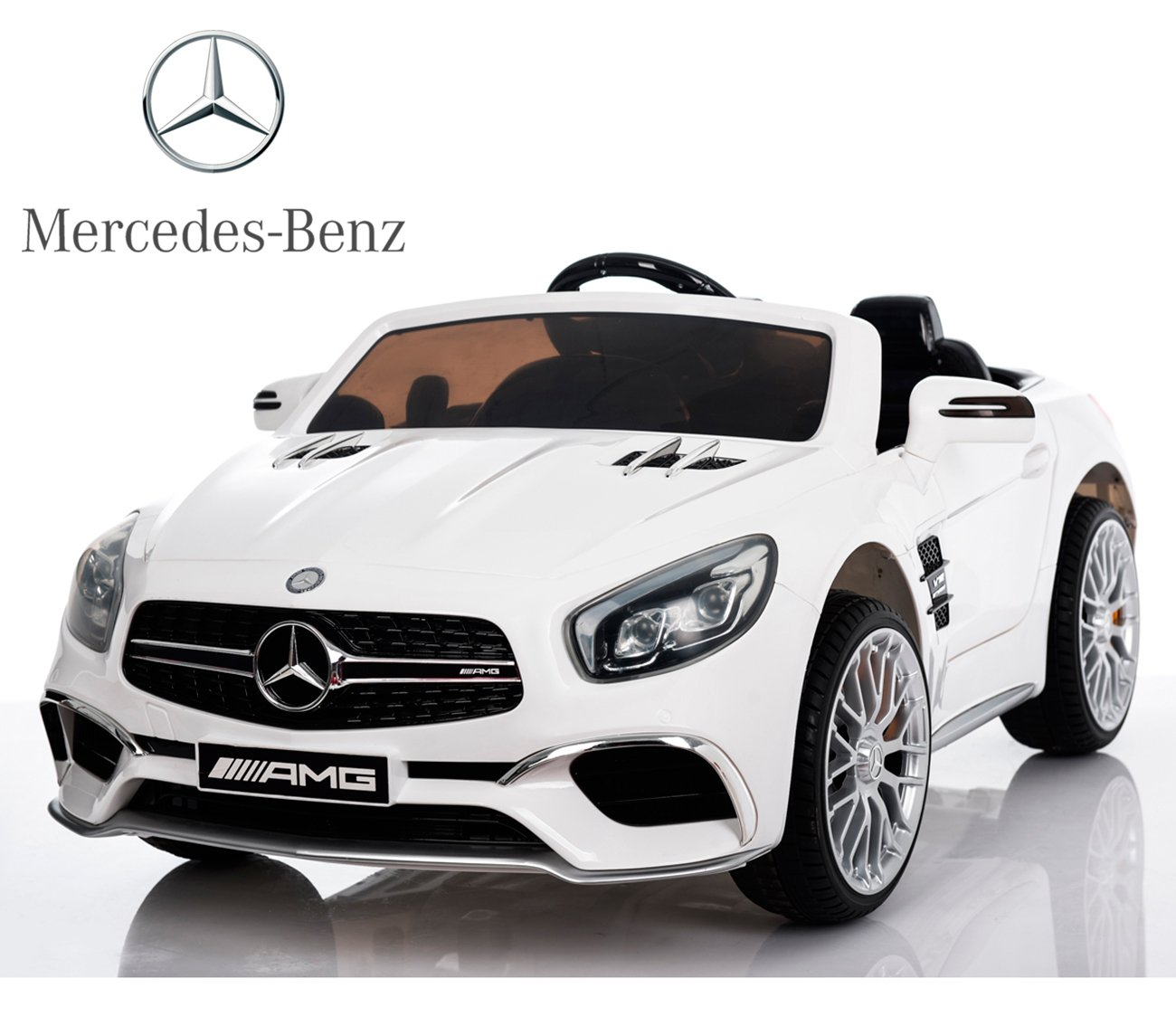Mercedes Benz SL de Babycoches con licencia oficial Voltios asiento polipiel regulable