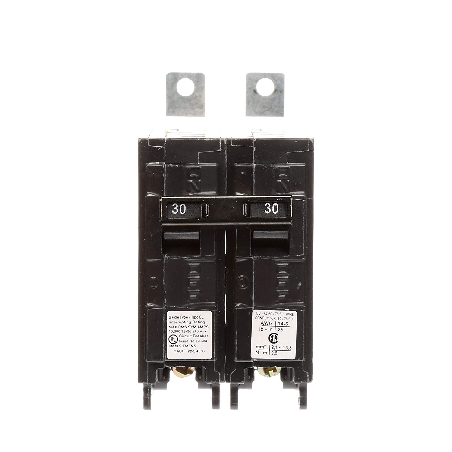 Siemens B230R 30-Amp Double Pole 240-Volt 10KAIC Bolt in Breaker