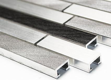 Alu mix alluminio grigio nero alluminio composito di rete mosaico