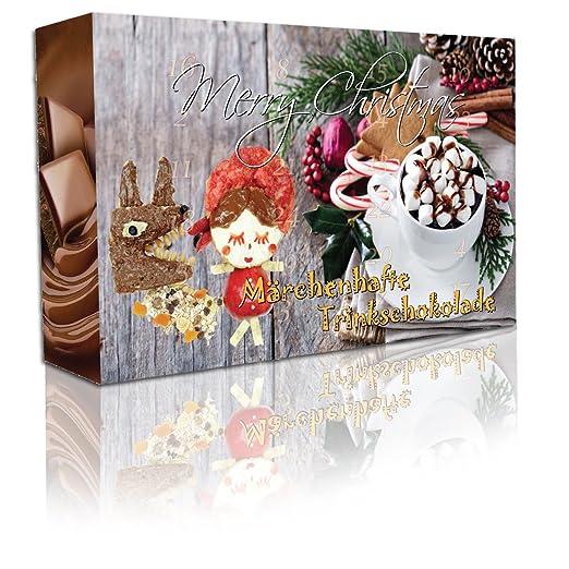 """C&T Adventskalender 2020 Trinkschokolade (No3) NEU - 24 aufregende italienische Kakao-pulver - """"Märchenhafte Trinkschokolade"""" in 24 verschiedenen Sorten mit Verfeinerungstipps - Weihnachts-Kalender mit Kakaospezialitäten zum selber machen - Getränkepulver: Amazon.de: Grocery"""