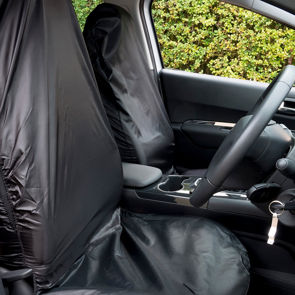 TOYOTA AURIS ALL YEARS 2 Fronts Heavy Duty Black Waterproof Car Seat Covers