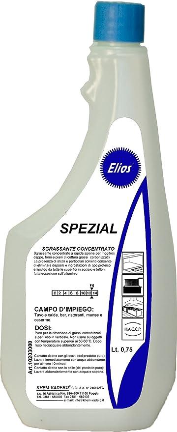 Elios – Spezial desengrasante Alcalino para color, freidora campanas extractoras, Hornos y niveles de