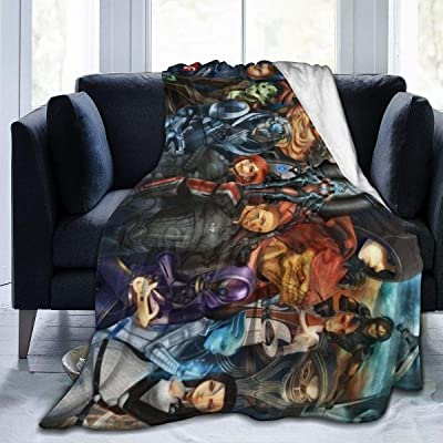 "Mass Effect Cartoon All Characters Luxury Super Cozy Anti-Pilling Durable Warm Fleece Blanket,Heavyweight Anti-Shrink Cazy Fuzzy Big Blanket,All Seasons Anti-wrinkle Fluffy Microfiber Blankets 50""x40: Home & Kitchen"