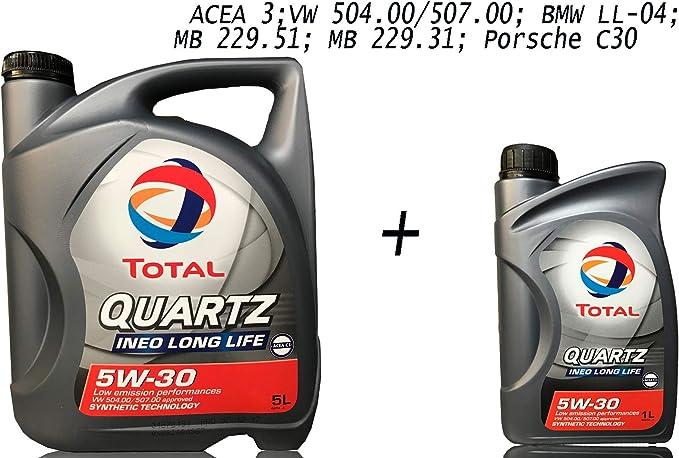 Total 5w30 Quartz Ineo Longlife 5 1 Liter Motoröl Auto