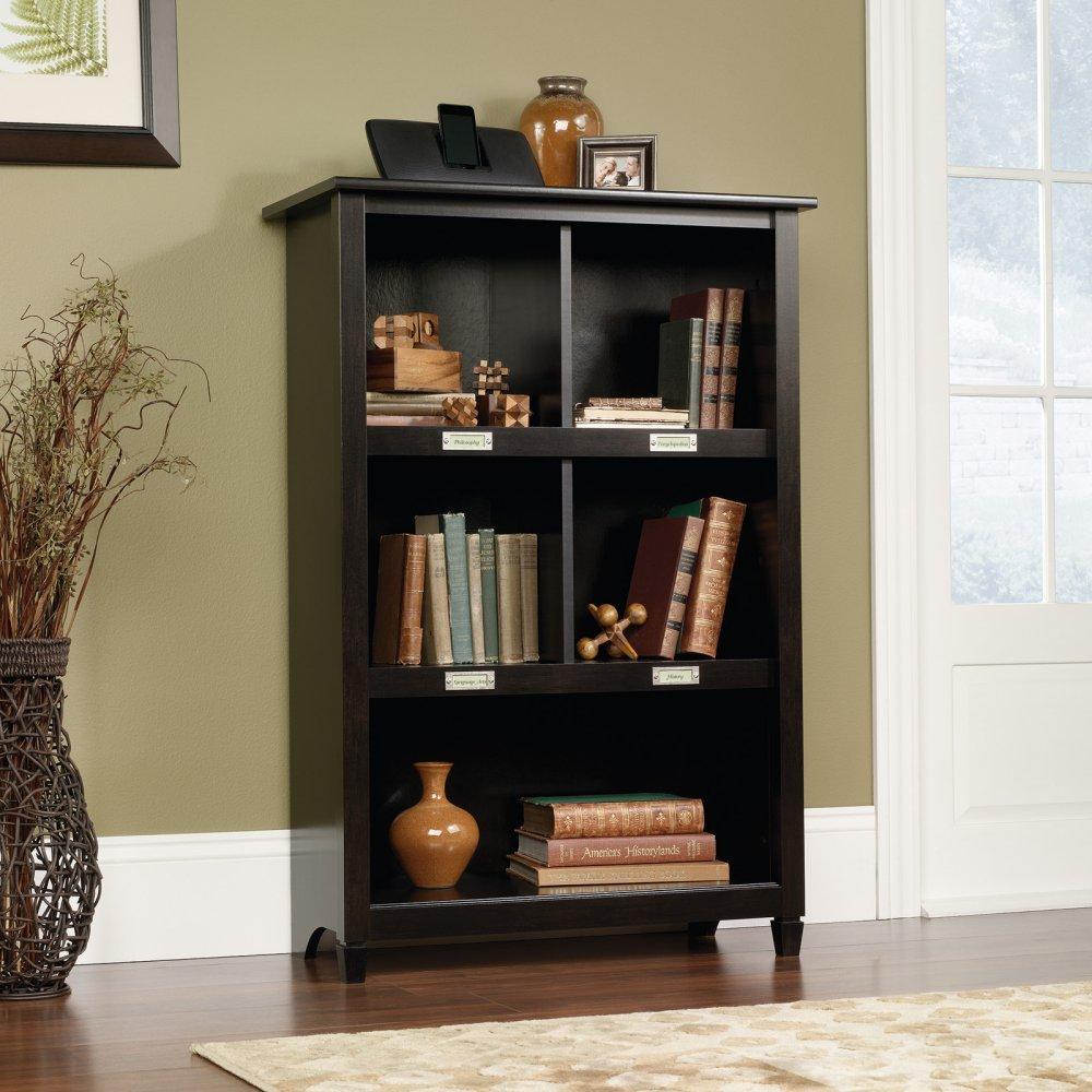Amazon.com: Sauder Edge Water Bookcase, Estate Black: Kitchen & Dining