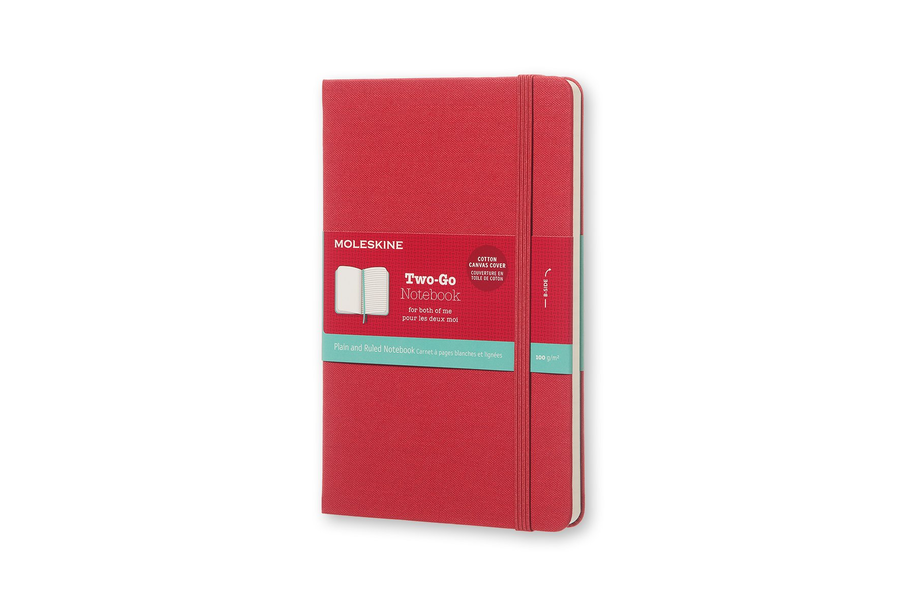 Moleskine Two-Go Hard Cover Notebook, Mixed (Ruled-Pl (QW2I)