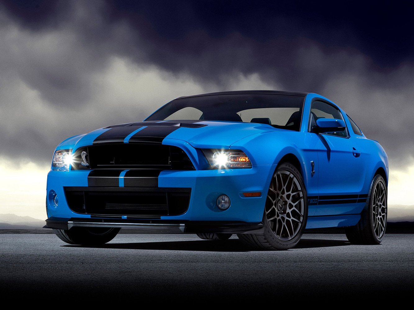 Amazon com ford mustang shelby gt500 cobra car photo art poster 32x24 inches posters prints