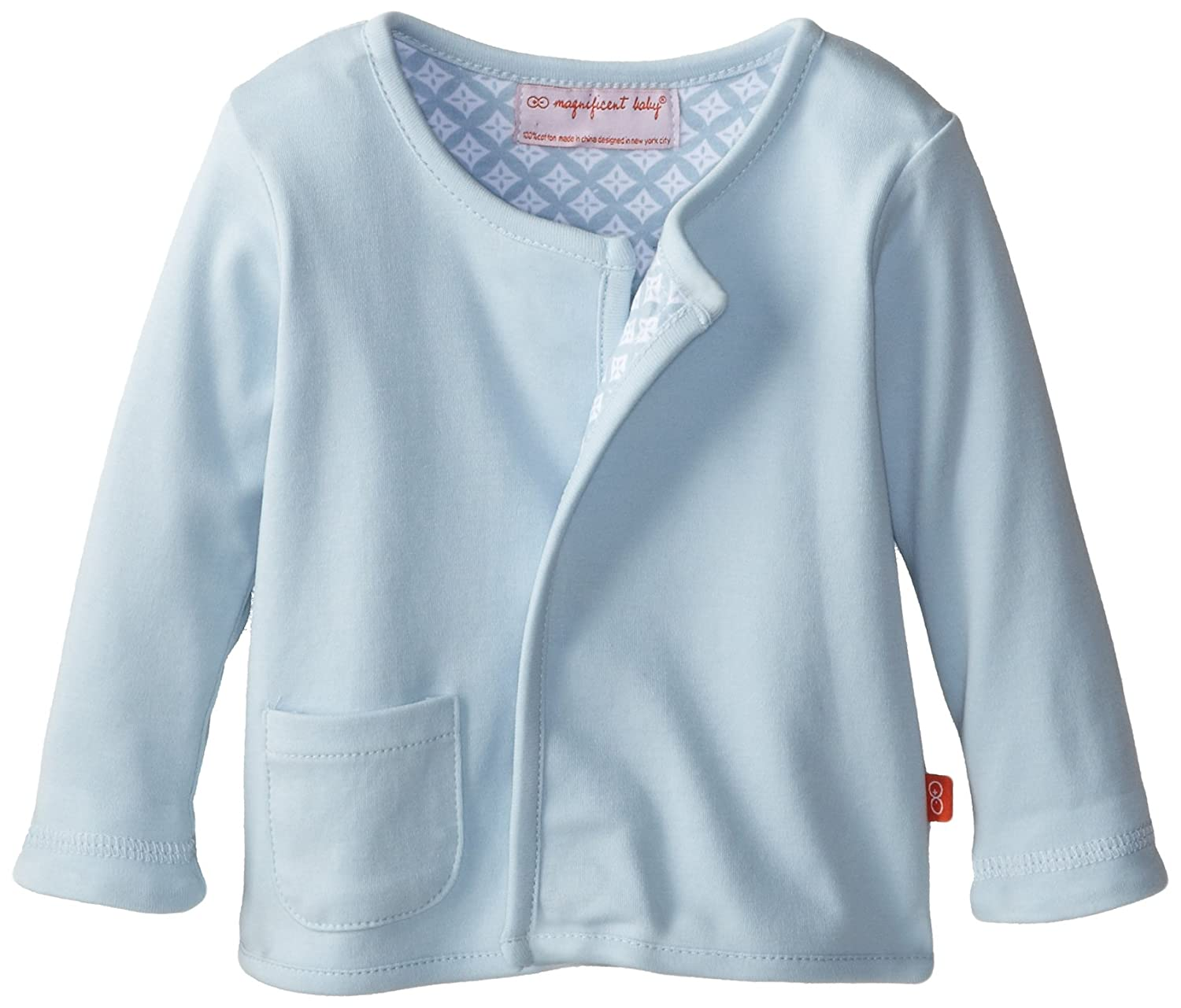 Magnificent Baby Baby-Boys New-Born Reversible Cardigan, White Diamonds, 9 Months 2215-B