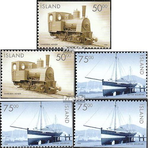 Islande 910Eo,ue-911Du,Eo,ue (complète.Edition.) complément à Hauptsatz 1999 Historique véhicules (Timbres pour les collectionneurs)