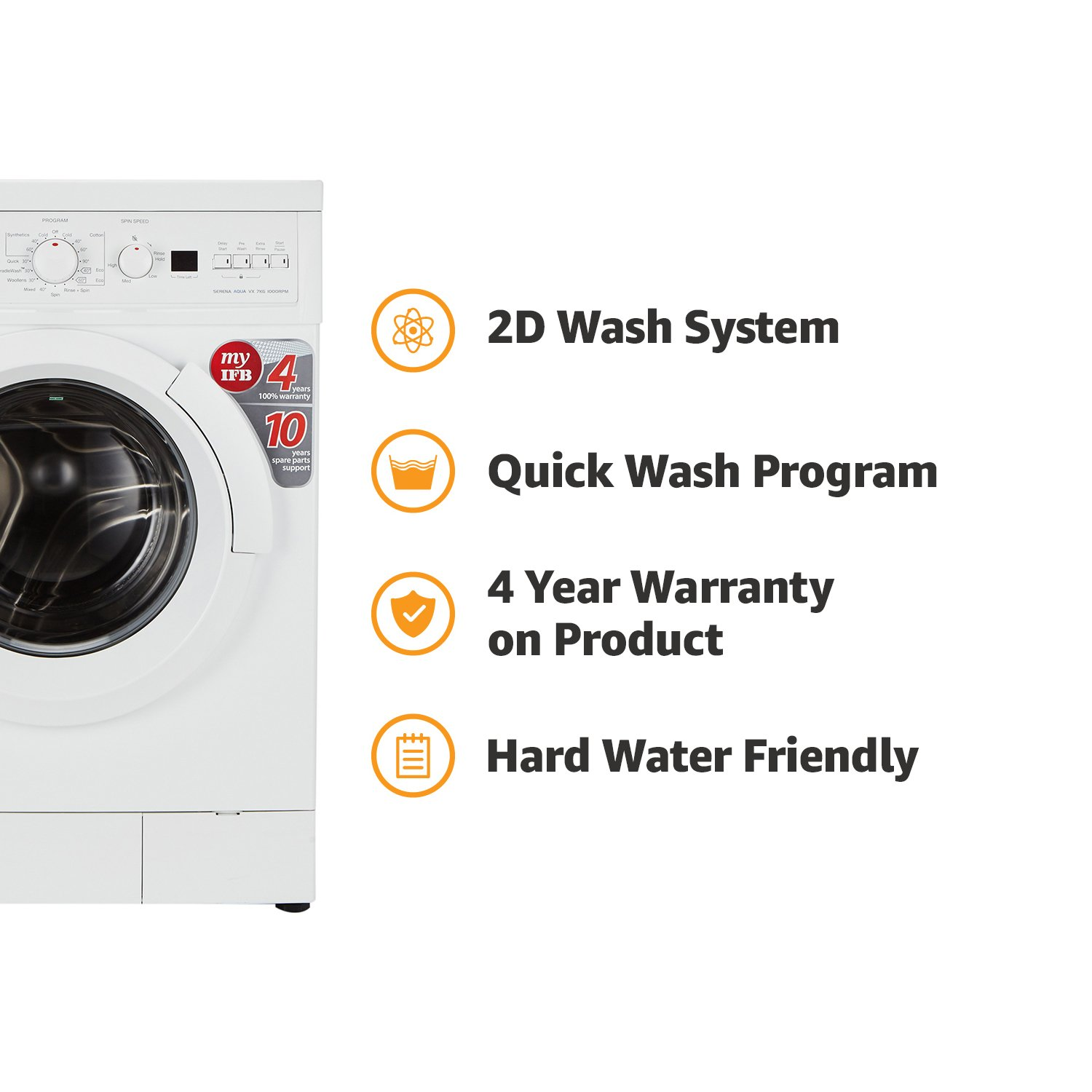 Ifb 7 Kg Fully Automatic Front Loading Washing Machine Serena Aqua Wiring Diagram Of Vx Ldt White Home Kitchen
