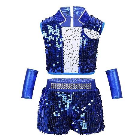 fb4619d28602b IEFIEL Justaucorps de Gymnastique Danse pour Enfant Garçon Fille Ensemble  Vêtement de Danse Jazz Latine Performance