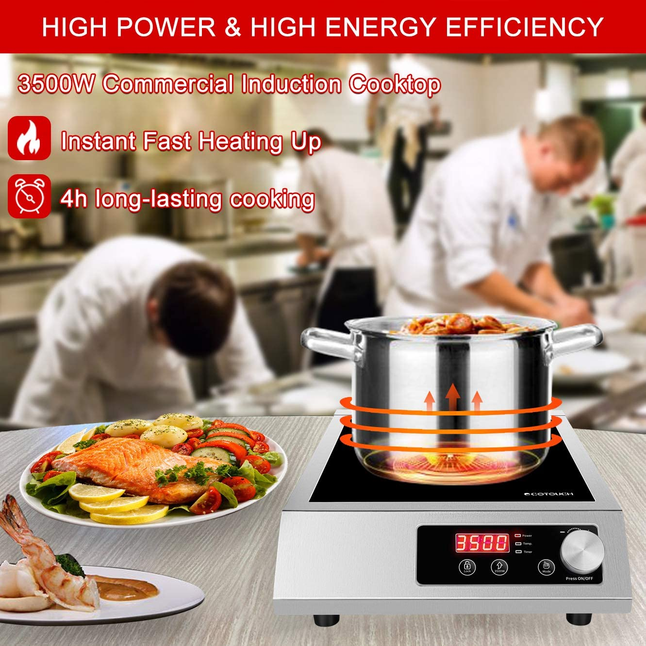 ECOTOUCH Commercial Induction Cooktop