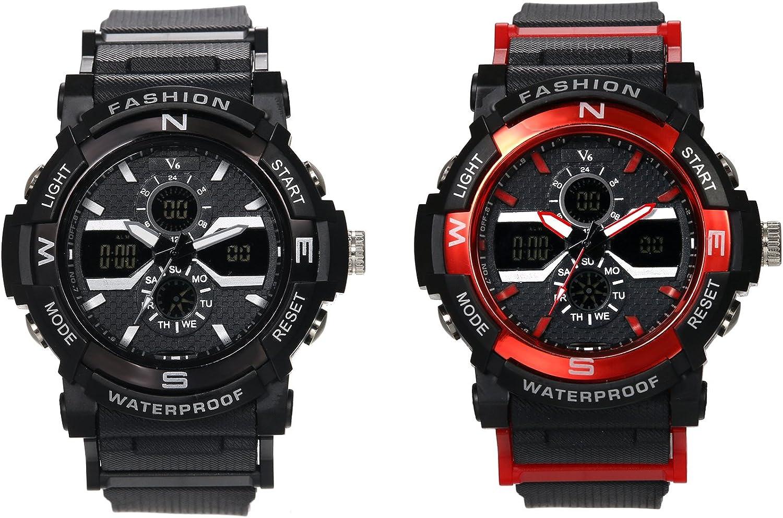 Hombre Negro Classic Luxus Casual Relojes con multifunción Cronógrafo Reloj Deportivo Business Fashion Quartz Reloj de Pulsera para Hombres