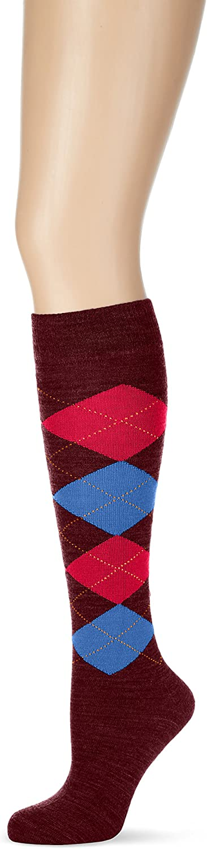 Warm BURLINGTON Women Marylebone Knee-Highs Multiple Colours 1 Pair Virgin Wool Blend timeless Argyle design EU 36-41 UK sizes 3.5-7
