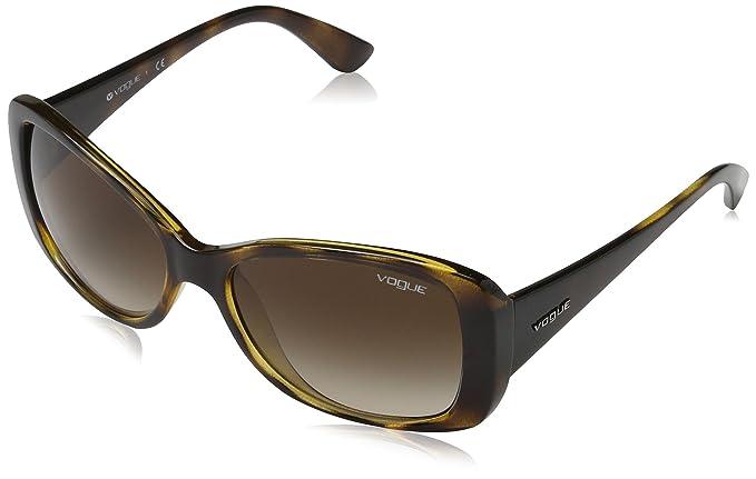 Vogue 0Vo2843S Gafas de sol, Dark Havana, 56 para Mujer