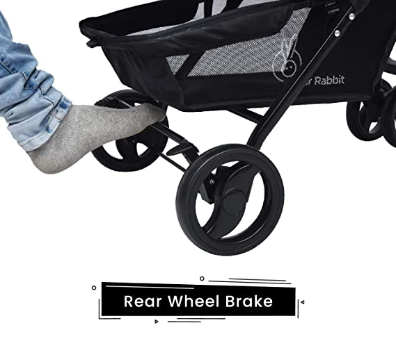 R for Rabbit Cuppy Cake Grand Stroller/Pram -Smart Elegant Baby Stroller and Pram for Babies (Yellow Black)