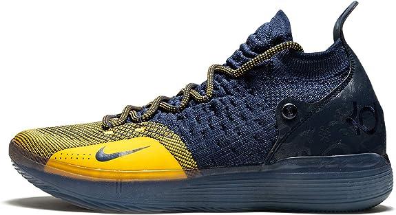 Distracción tijeras jugar  Amazon.com   Nike Zoom KD 11 Basketball Shoes (10.5, Navy/Gold)   Basketball