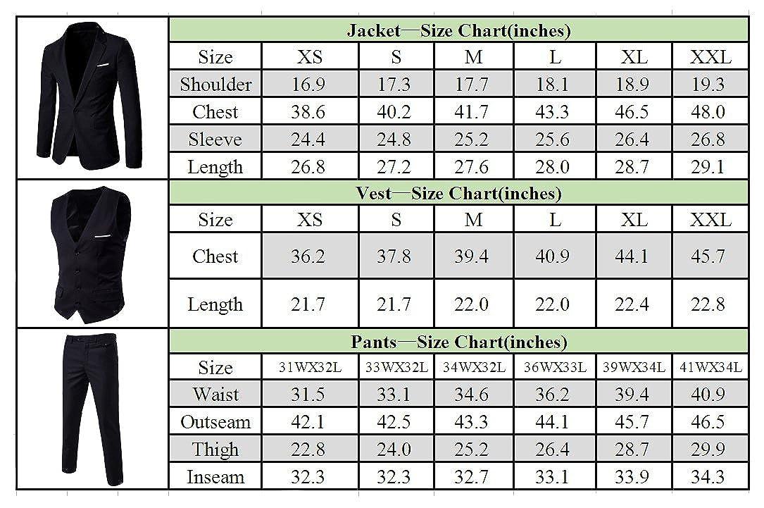 Mens One Button Slim Fit Blazer Jacket Tux Vest Suit Pants