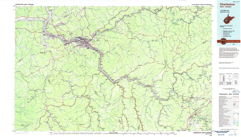 Amazon Com Yellowmaps Charleston Wv Topo Map 1 100000 Scale 30 X