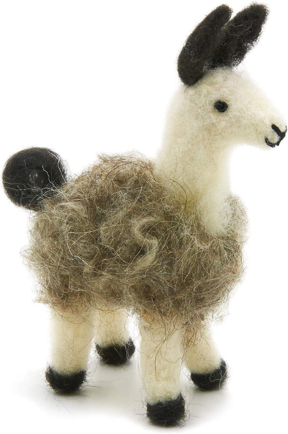 Felting Dreadlocks in Creamy Beige from Sassy 2 oz. Needle Felting Llama Roving for Spinning