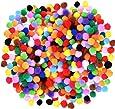 Caydo 1200 Pieces 1cm Assorted Pom Poms for DIY Creative Crafts Decorations