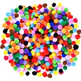 Caydo 1200 Pieces 1cm Assorted Pom Poms for DIY Creative Crafts Decorations