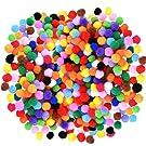Caydo 1200 Pieces 1cm Assorted Elastic Pom Poms for DIY Creative Crafts Decorations