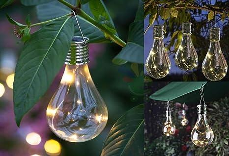 Lampade lampadine led ad energia solare da esterno luce calda h 15