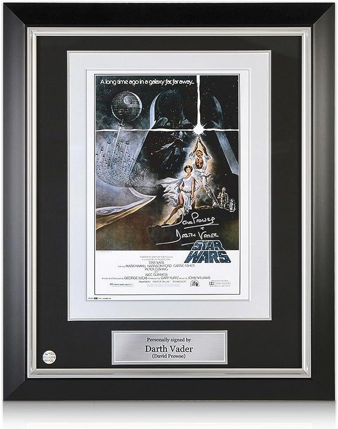 Darth Vader Firmado Star Wars Poster (Plata Firma). En Marco Negro ...