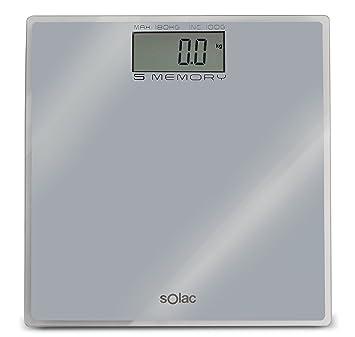 Solac PD7622 - Báscula de baño digital (5 memorias, 4 sensores): Amazon.es: Salud y cuidado personal