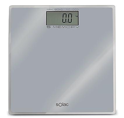 Solac PD7622 - Báscula de baño digital (5 memorias, 4 sensores)