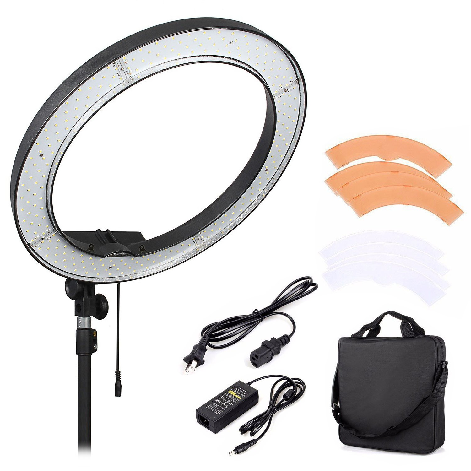 "Mcoplus RL-18 Camera Photo/Video 18"" 5500K LED Dimmable Ring Flash Light Studio Outdoor Video Camera Photography Lighting"