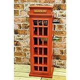 77cm Red Telephone Box Wine Rack