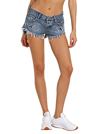 8ba63b398a Amazon.com: One Teaspoon Women's Royale Bonita Shorts, Royale, 29 ...