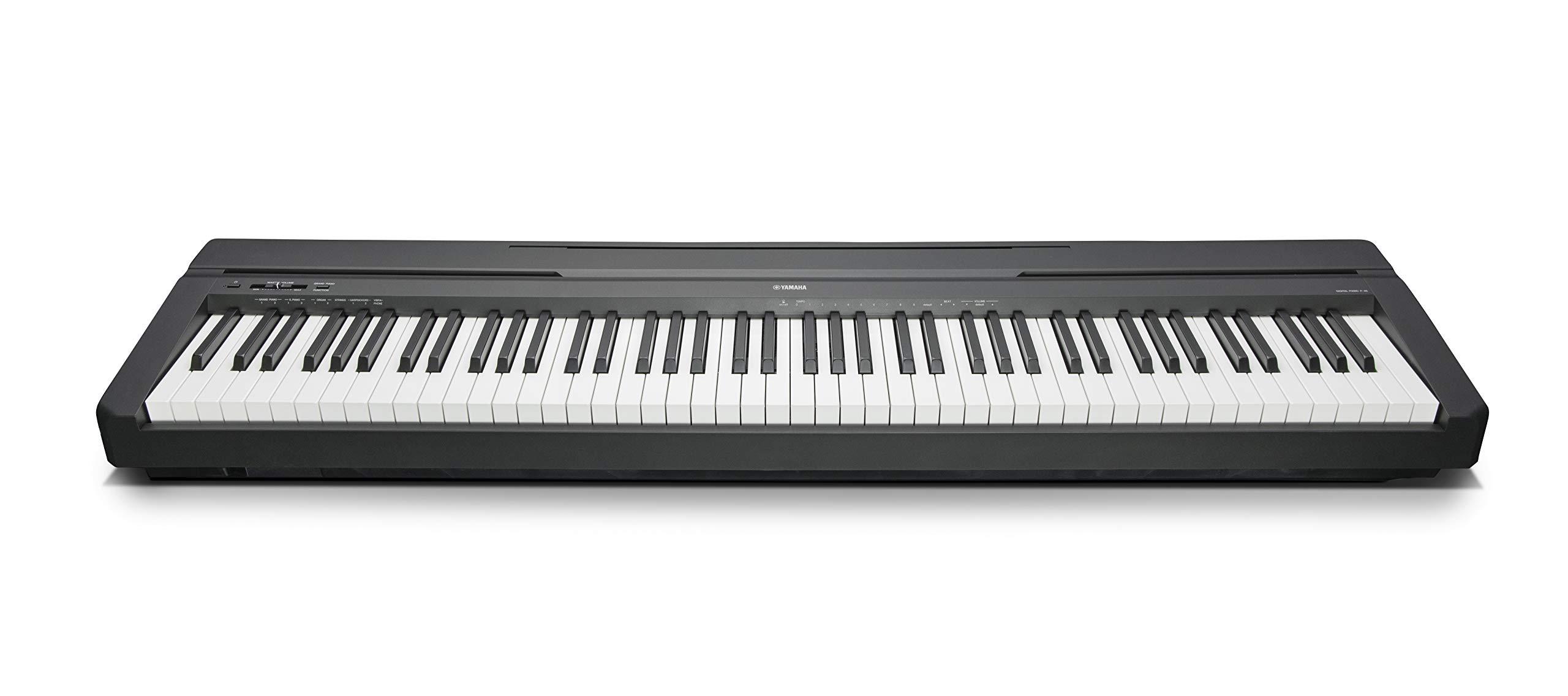 Yamaha P-45B - Piano digital (88 teclas, 64 notas), color
