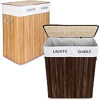 Goods & Gadgets Cesta de lavandería de bambú