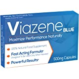 No.1 Male Food Supplement - Maximize Your Performance Naturally - Viazene BLUE is Energy, Stamina and Endurance Enhancement Food Supplement for Men – Pack of 10 Capsules