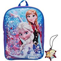 """Disney / Frozen 15"""" Backpack & Luggage Name ID Tag - 2 pc Set - Elsa and Anna"""