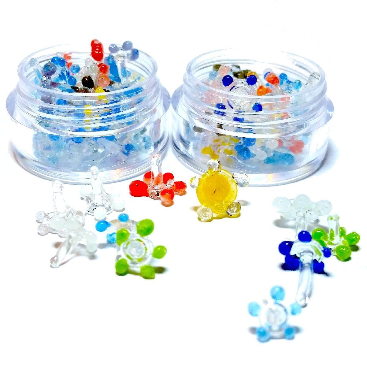 Amazon 20 glass flowerdaisy screens 20 pcs w small amazon 20 glass flowerdaisy screens 20 pcs w small container health personal care dhlflorist Images