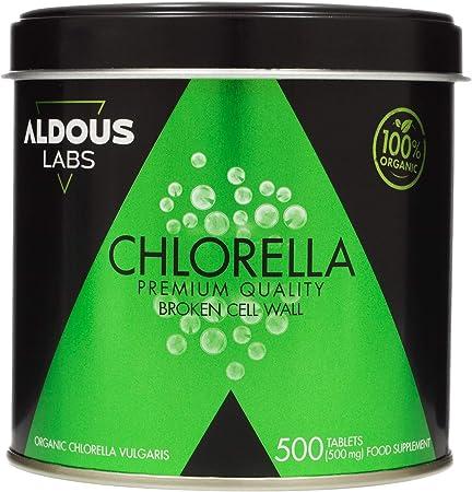 Chlorella Ecológica Premium para 165 días - 500 comprimidos de 500mg - Pared celular rota - Vegano - Libre de Plástico - Certificación Ecológica (1 x ...