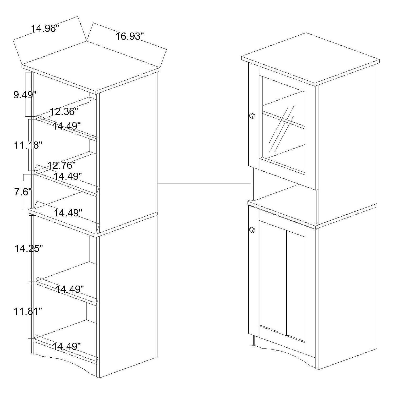Amazon.com: Wholesale Interiors Lauren Two-Tone Buffet y ...