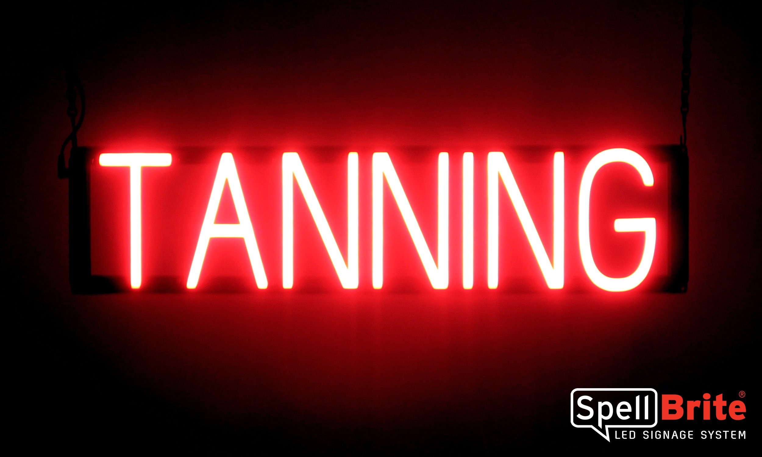 SpellBrite Ultra-Bright TANNING Sign Neon-LED Sign (Neon look, LED performance)