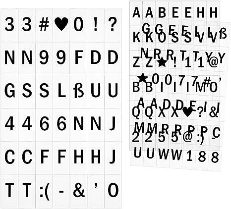 200 Buchstaben /& Zahlen /& Symbolen Leuchtbox Ergänzungsset Light Box Lichtbox