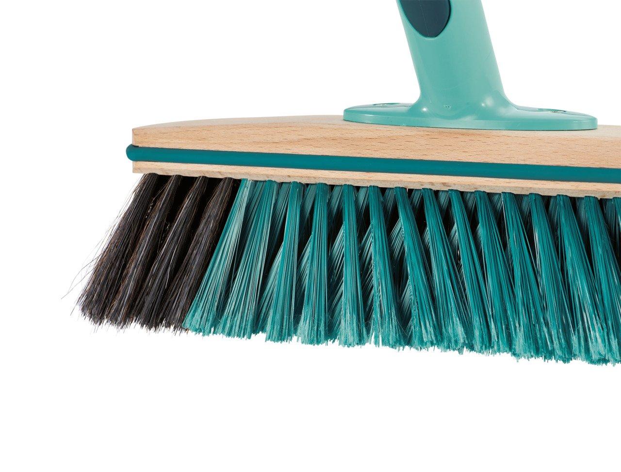 Leifheit Hard Floor Broom Xtra Clean Eco Plus 30 cm, Floor Broom, House Broom, Dustpan Brush, Wood / Mint Green, 45002 by Leifheit (Image #5)