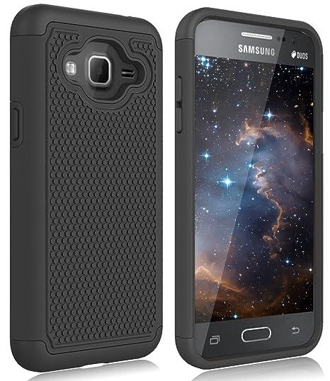 Galaxy J3 Case, Galaxy Sky, Galaxy Express Prime Case, Galaxy Sol, Galaxy  Amp Prime Zectoo Hybrid Shockproof Tough Rugged Dual Layer Defender